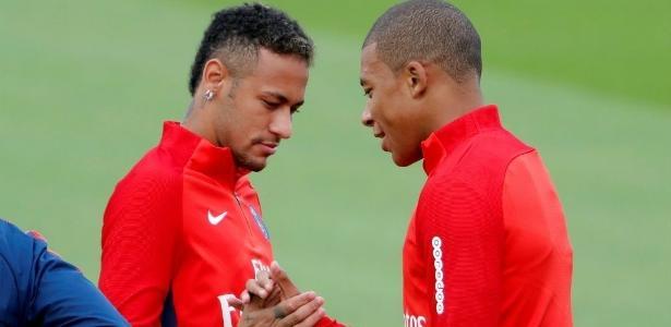 Mbappé iniciou os trabalhos com Neymar nesta semana