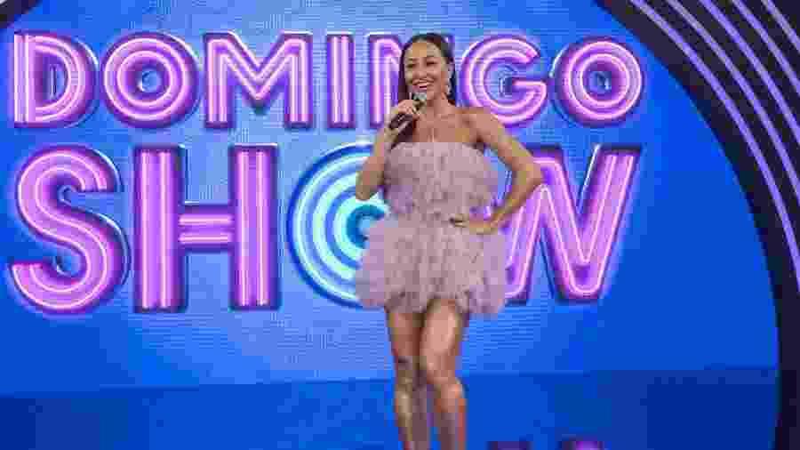 """O novo """"Domingo Show"""", com Sabrina Sato, perdeu do SBT e ficou em 3º no ibope, na estreia  - Marcus Godoy/Record TV"""