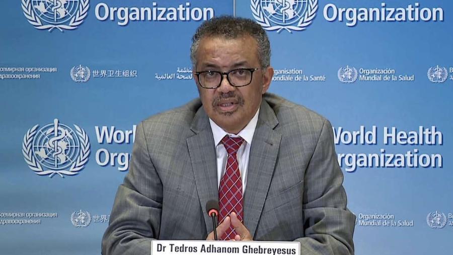 Diretor-geral da Organização Mundial da Saúde (OMS), Tedros Adhanom                              - AFP