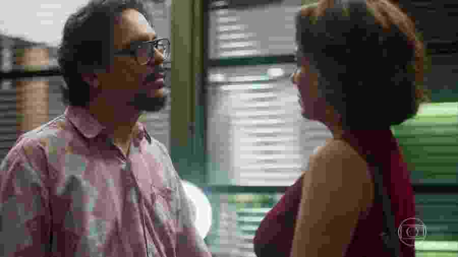 Mario (Lúcio Mario Filho) e Nana (Fabíula Nascimento) em Bom Sucesso (Reprodução/TV Globo). - Mario (Lúcio Mario Filho) e Nana (Fabíula Nascimento) em Bom Sucesso (Reprodução/TV Globo).