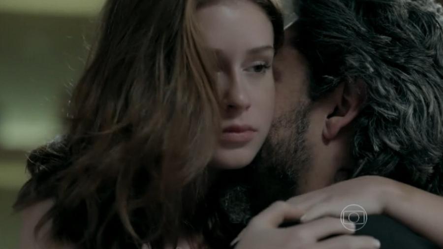 José Alfredo (Alexandre Nero) e Maria Isis (Marina Ruy Barbosa) em cena de Império (Reprodução/Globo) - Reprodução / Internet