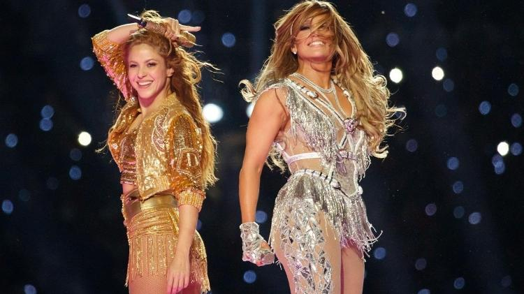 Shakira and Jennifer Lopez at the Super Bowl In 2020 and Reproduction