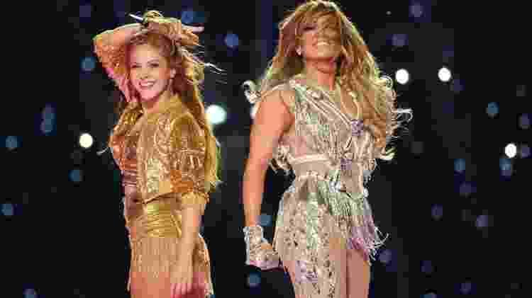 Shakira e Jennifer Lopez no Super Bowl 2020 - Reprodução