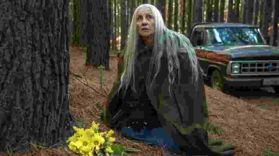 """Cassia Kis interpreta a bruxa Haia em """"Desalma"""" - Reprodução/Globoplay"""