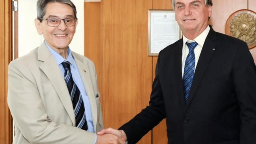 Roberto Jefferson e o presidente Jair Bolsonaro - Reprodução