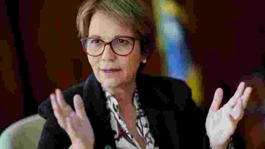 Ministra Tereza Cristina durante entrevista - Ueslei Marcelino/Reuters