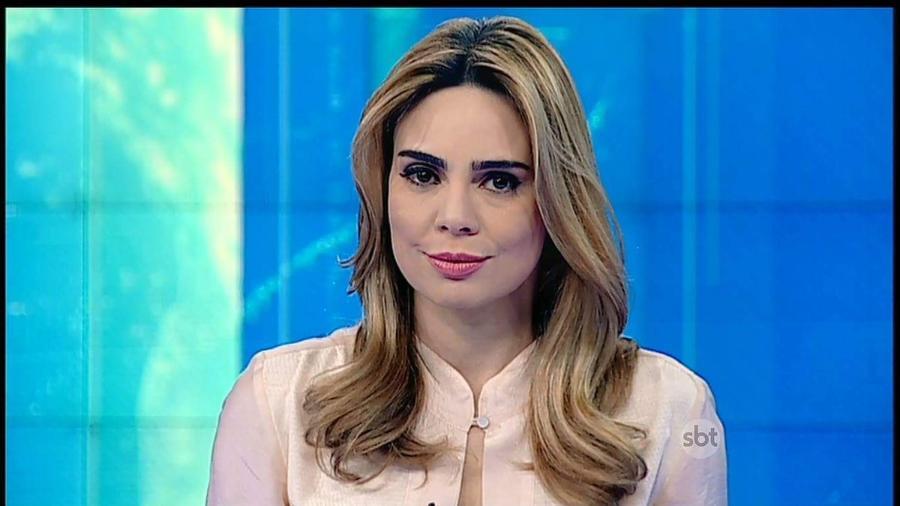 """A jornalista Rachel Sheherazade quando apresentava o """"SBT Brasil""""  - Divulgação/SBT"""