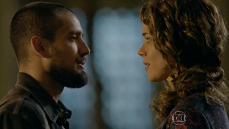 Vicente (Rafael Cardoso) e Cristina (Leandra Leal) em Império (Reprodução/Globo) - Reprodução / Internet