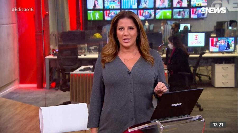 """Christiane Pelajo no """"Edição das 16h"""" - Reprodução / GloboNews"""