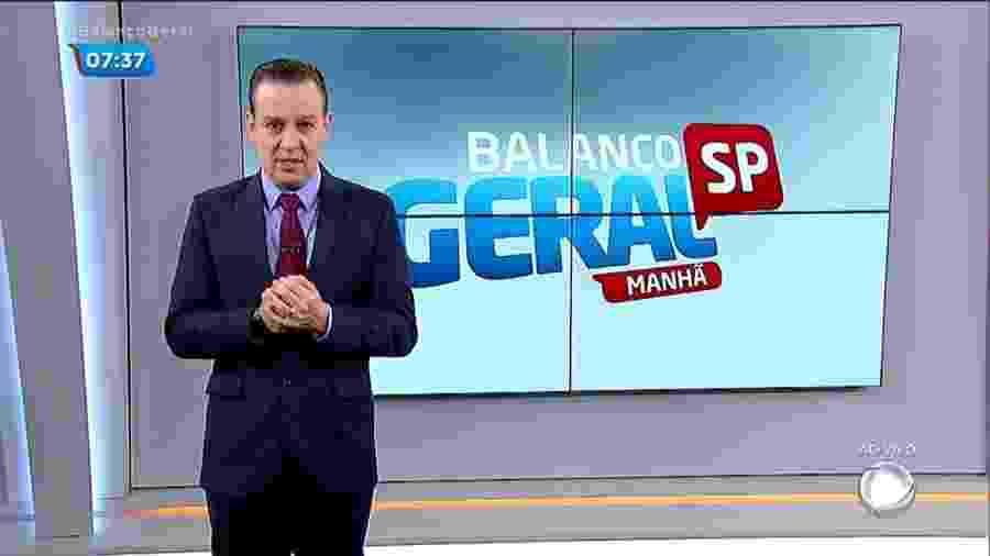 """Celso Zucatelli no """"Balanço Geral Manhã"""" e agora também no """"Fala Brasil""""  - Celso Zucatelli no Balanço Geral Manhã (Reprodução/Record TV)."""