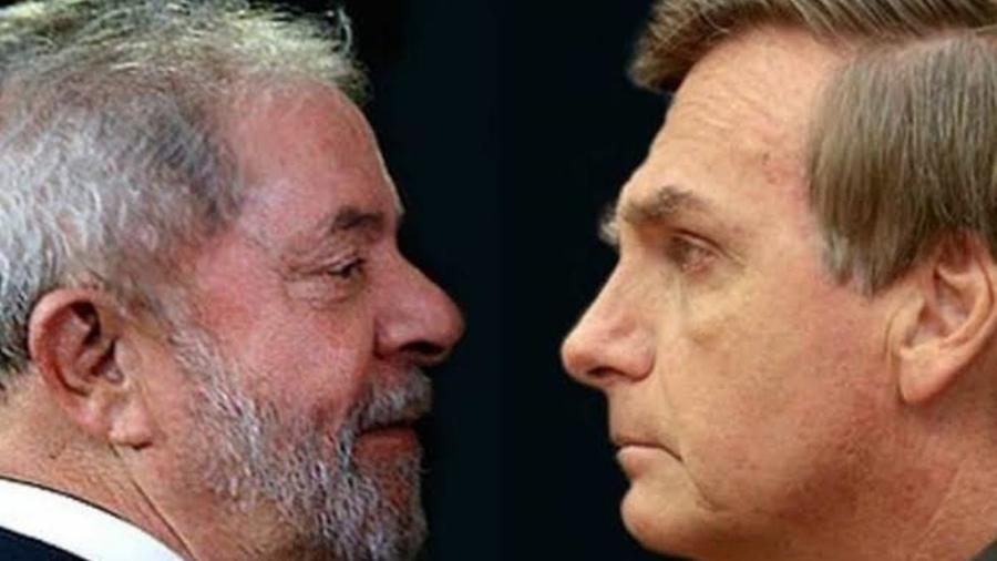 Lula e Bolsonaro: como na campanha de 2018, os dois são os favoritos para 2022, a léguas de distância dos outros candidatos - Reprodução / Internet