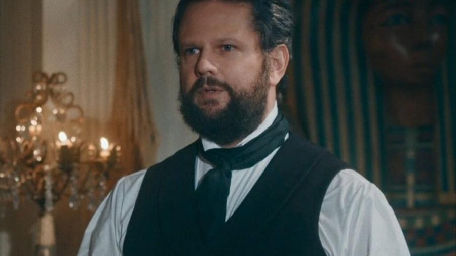 Dom Pedro II (Selton Mello) em Nos Tempos do Imperador (Reprodução/TV Globo). - Reprodução / Internet