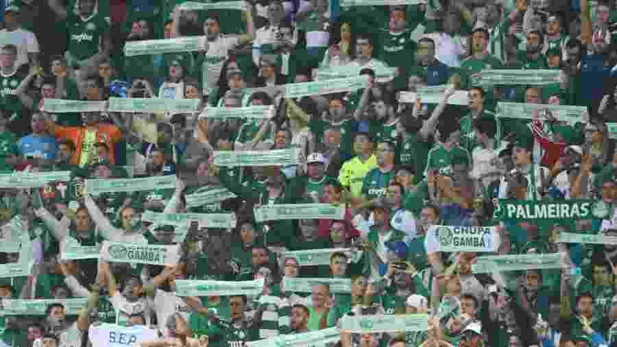 Torcidas organizadas do Palmeiras não poderão levar adereços para o estádio - Cesar Greco/Estadão Conteúdo
