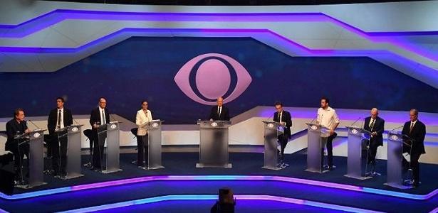 Oito candidatos participaram do primeiro debate