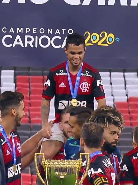 Flamengo comemora liderança do Campeonato Carioca (Reprodução / Twitter) - Reprodução / Internet