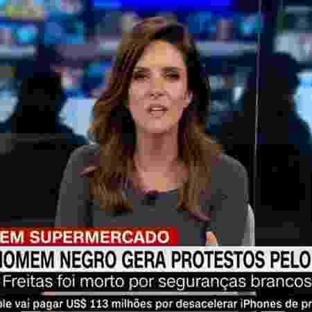 """Monalisa Perrone em cobertura de protesto contra racismo no """"Expresso CNN"""" - Reprodução / Internet"""