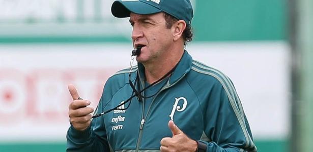 Cuca testou variações táticas e não contou com Willian na atividade desta segunda-feira - Cesar Greco/Ag. Palmeiras
