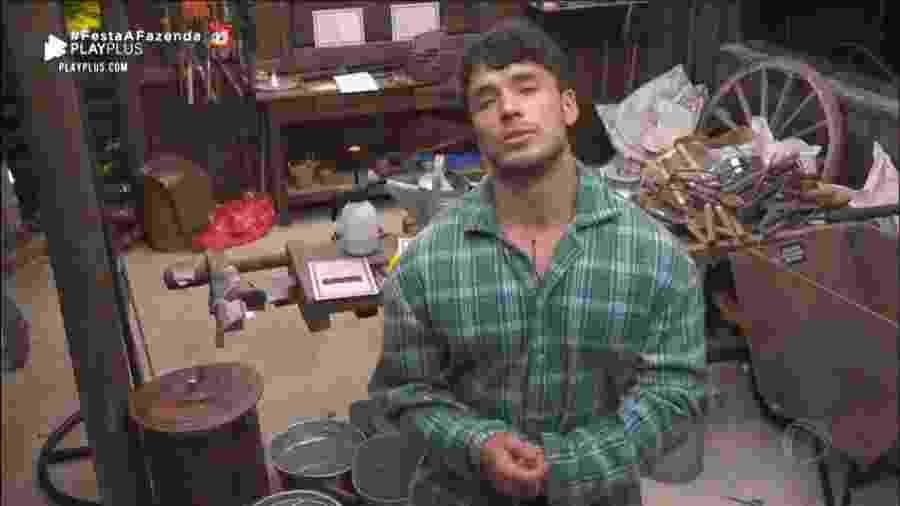 Lucas Viana em A Fazenda 11 (Foto: Reprodução/PlayPlus) - Lucas Viana em A Fazenda 11 (Foto: Reprodução/PlayPlus)