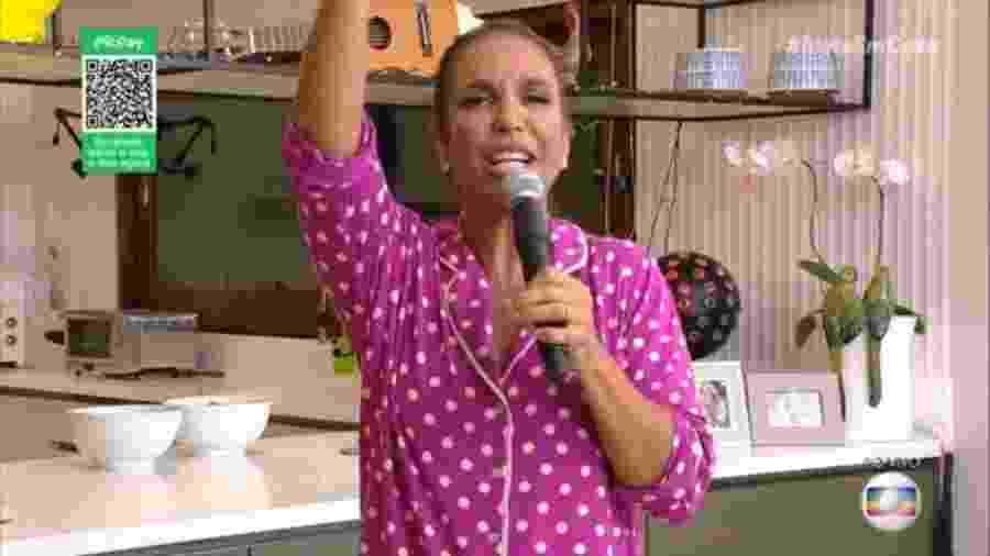 Ivete Sangalo durante live na Globo, no dia 25 de abril - Reprodução / Internet