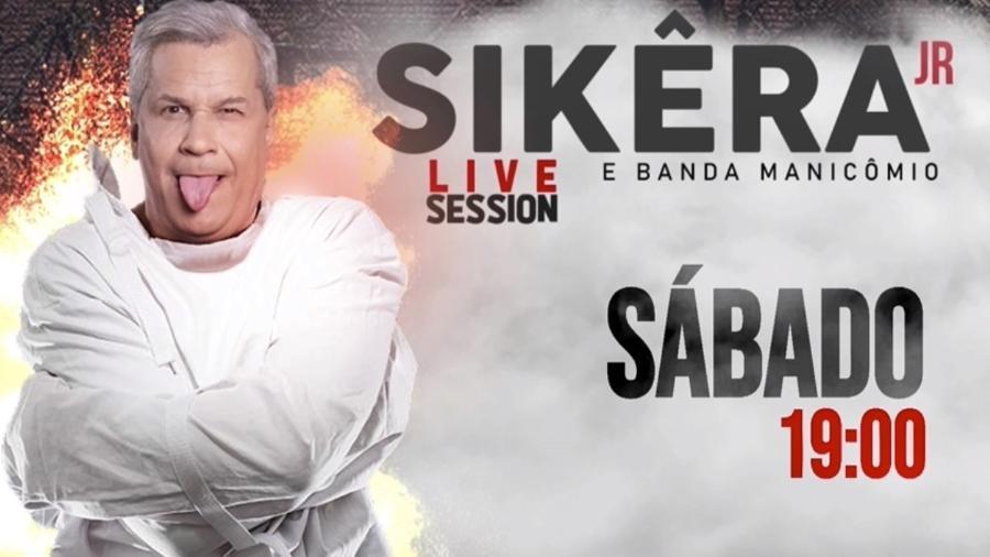 """Sikêra Jr. anuncia """"live"""" no último dia 30 na RedeTV!  - Reprodução / Internet"""