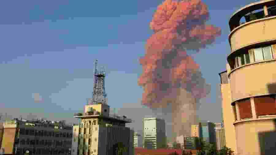 A explosão aconteceu na quarta-feira, 4 de agosto, em Beirute, capital do Líbano                              -                                 AFP