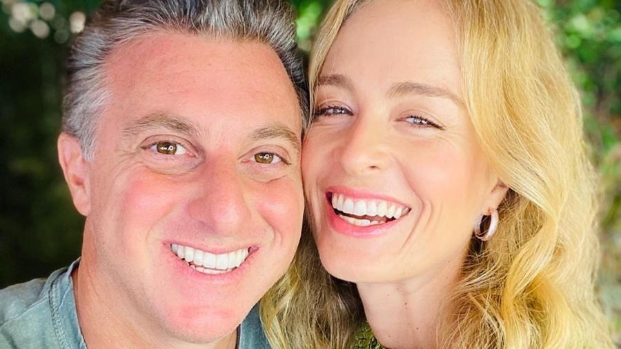 O apresentador Luciano Huck e a mulher, Angélica - Reprodução / Internet