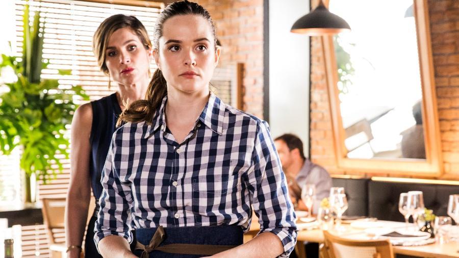 Luna/Fiona (Juliana Paiva) e Helena (Flávia Alessandra) em Salve-se Quem Puder (Reprodução/Globo) - Globo/João Miguel Júnior