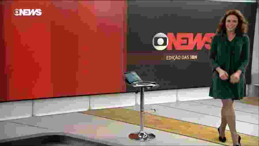 """Leilane Neubarth apresenta o """"Edição das 18h"""" na GloboNews - Divulgação"""