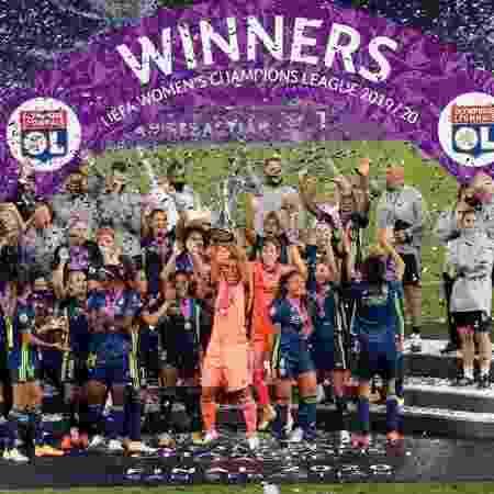 Lyon vencendo a Champions League feminina: UEFA convida Globo, Turner e Disney para licitação pioneira do torneio - GettyImages