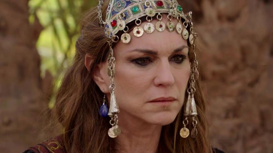 Sarai (Adriana Garambone) em Gênesis (Divulgação/ Record TV) - Reprodução / Internet