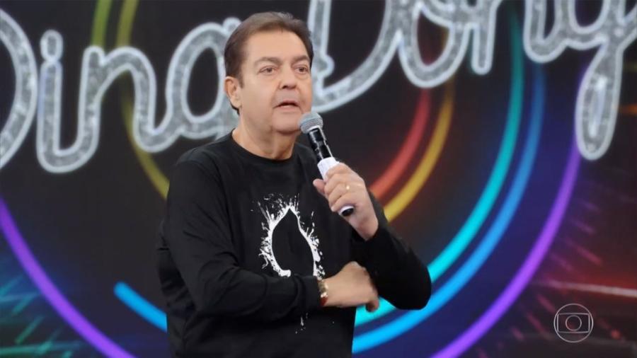 Fausto Silva no Domingão do Faustão (Reprodução/TV Globo). - Reprodução / Internet