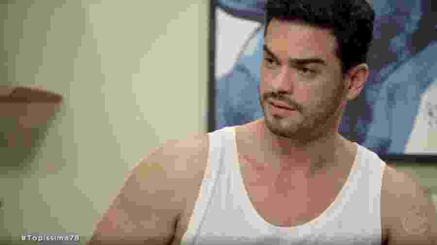 André (Sidney Sampaio) em Topíssima (Reprodução/TV Globo). - André (Sidney Sampaio) em Topíssima (Reprodução/TV Globo).