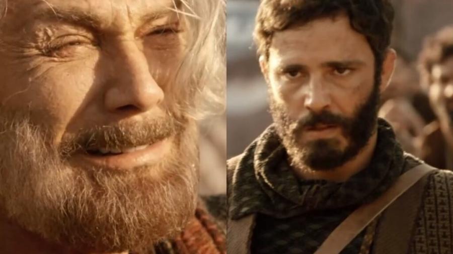 Jacó (Petrônio Gontijo) e Judá (Thiago Rodrigues) de Gênesis (Reprodução - Record TV) - Reprodução / Internet