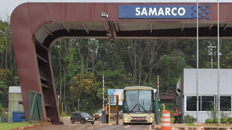 Portaria da mineradora Samarco na cidade de Mariana (MG) - Márcio Fernandes de Oliveira/Estadão Conteúdo