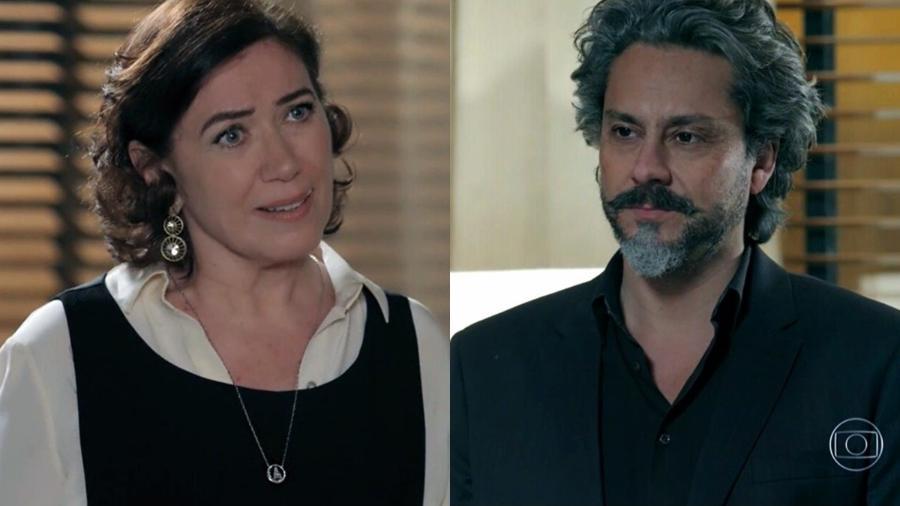 """Maria Marta (Lilia Cabral) e José Alfredo (Alexandre Nero) em """"Império"""" - Reprodução / Internet"""