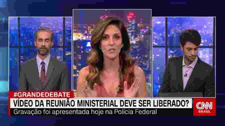 Augusto de Arruda Botelho, Monalisa Perrone e Caio Coppolla, em O Grande Debate, da CNN Brasil  - Reprodução / Internet