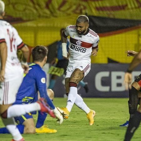 Gabigol: 9 finalizações e 1 gol no Sport - Alexandre Vidal / CRF