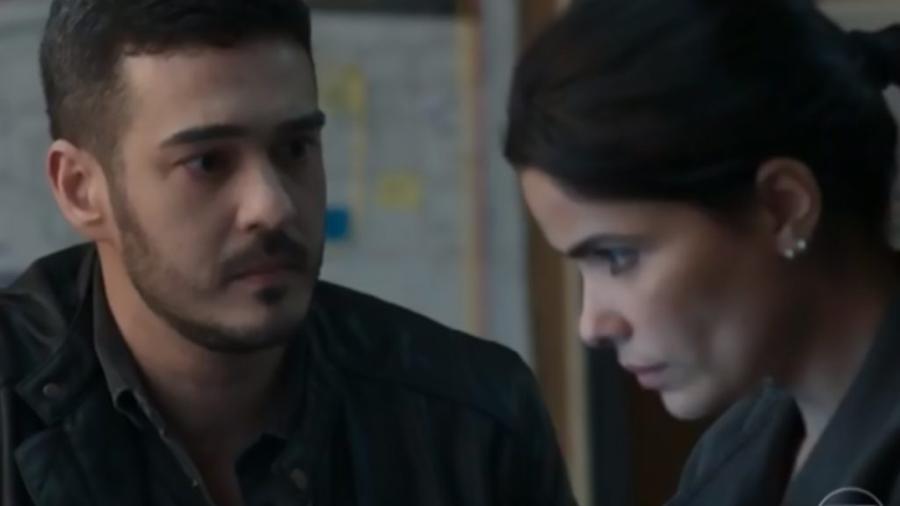 Domênico (Marcos Veras) e Antônia (Vanessa Giácomo) em Pega Pega (Reprodução/Globo) - Reprodução / Internet