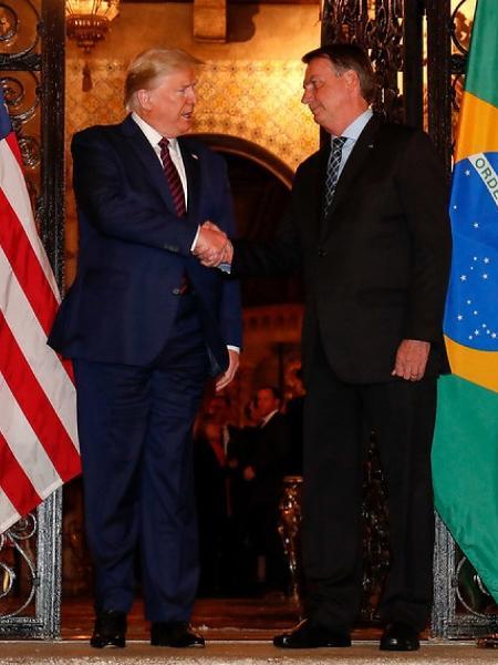 olsonaro ao lado de Donald Trump                              -  ALAN SANTOS/PR