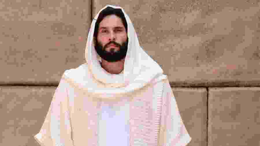 "Dudu Azevedo interpreta ""Jesus"" na novela da Record TV - Blad Meneghel/ Record TV"