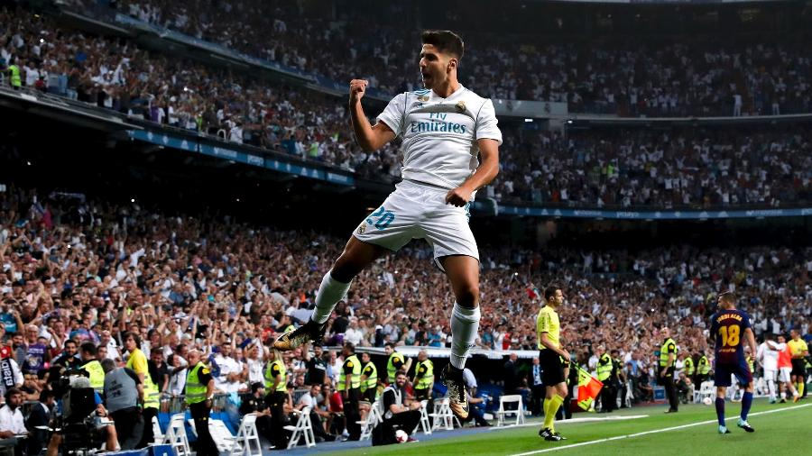 Marcos Asensio do Real Madrid comemora gol - Getty Images