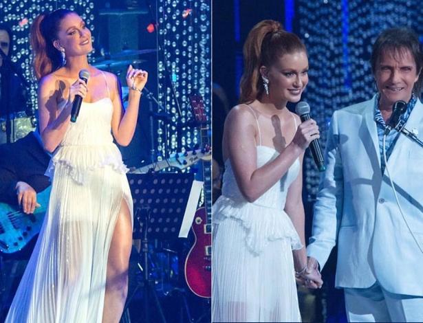 Marina Ruy Barbosa cantou com Roberto Carlos em especial de fim de ano - Foto: Reprodução/ Instagram