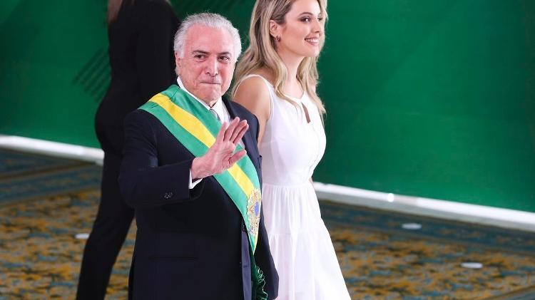 Michel Temer e Marcela Temer durante cerimônia de passagem da Faixa Presidencial para o presidente Jair Bolsonaro - Agência Brasil