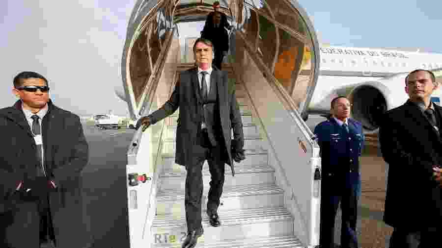 Bolsonaro desembarca na Suíça em janeiro, onde participou do Fórum Econômico em Davos - Alan Santos/PR