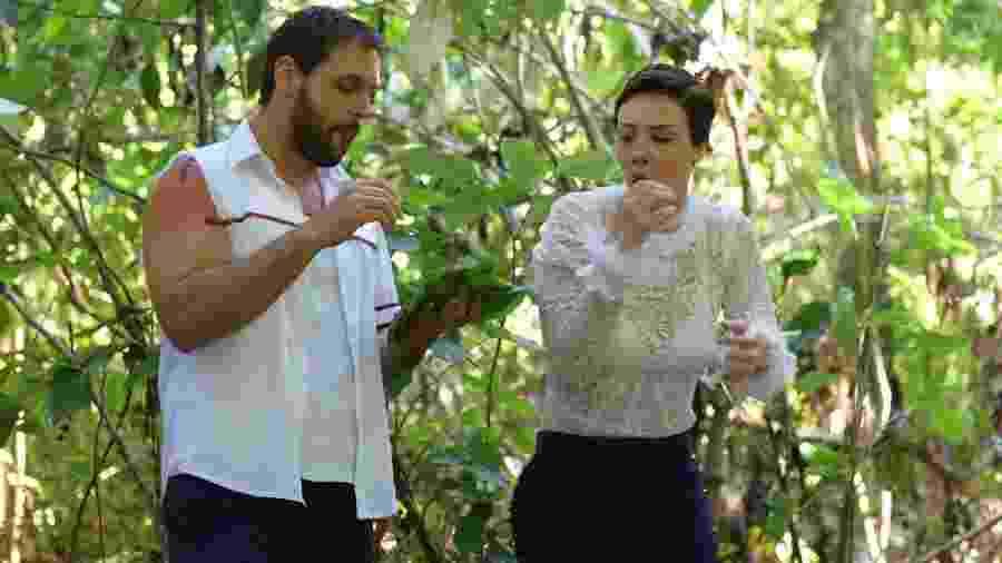 Antonio (Felipe Cunha) e Sophia (Camila Rodrigues) em Topíssima (Reprodução/TV Globo). - Antonio (Felipe Cunha) e Sophia (Camila Rodrigues) em Topíssima (Reprodução/TV Globo).