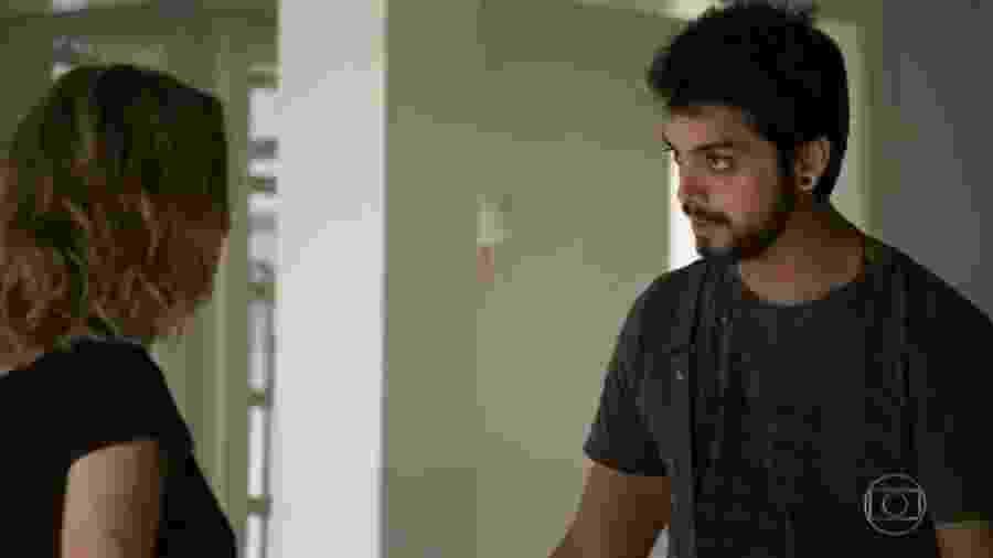 Teresa (Leona Cavalli) e Bruno (Rodrigo Simas), de Órfãos da Terra (Reprodução) - Teresa (Leona Cavalli) e Bruno (Rodrigo Simas), de Órfãos da Terra (Reprodução)