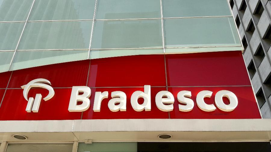 Lucro do Bradesco tem alta de 74% no 1º trimestre e atinge R$ 6,5 bilhões - Fachada do Bradesco
