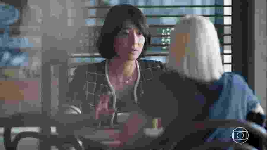 Mitsuko (Lina Agifu) e Tina (Ana Hikari) em Malhação (Reprodução/TV Globo). - Reprodução / Internet