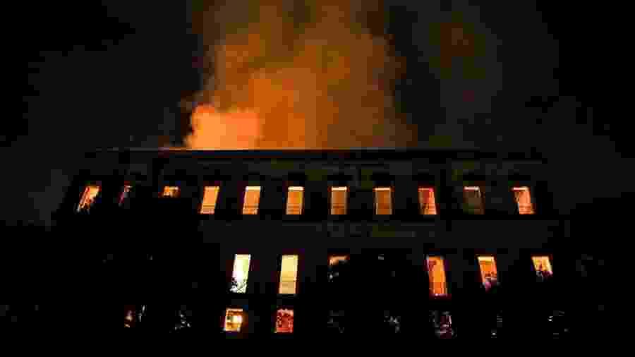 Incêndio destruiu o Museu Nacional, no Rio - Tânia Rego/Agêncai Brasil