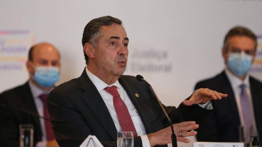 O presidente do TSE, ministro Luís Roberto Barroso, fala à imprensa no Centro de Divulgação das Eleições (CDE) 2020                               -                                 Fabio Rodrigues Pozzebom/Agência Brasil